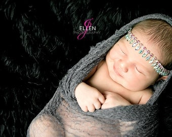 Photography Prop Wrap...Baby Girl Wrap...Baby Boy Wrap...Gray Wrap...Swaddling Wrap...Silver Gray...Gray...Newborn Wrap