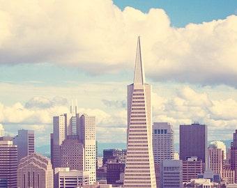 San Francisco Photography, San Francisco Art, Urban Photo Decor, SF Home Decor - Pyramid in the Sky