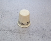 Vintage Butter-Nut Advertising Thimble with FREE Vintage Size 8 Metal Thimble