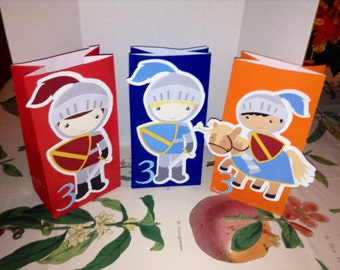 Cute Little Boys Dress Up as Knights Goody Bags