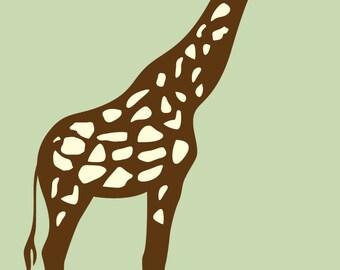 Kids children's vinyl wall decal Cute tall Giraffe