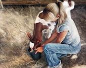 "Morning Feed 24""x24"" original painting"
