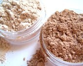 Mineral Foundation And Veil - 2 Piece Set - Mini  Size 2.5g - Chose Your Own Colors - Oil Absorbing - Flaw Minimizing