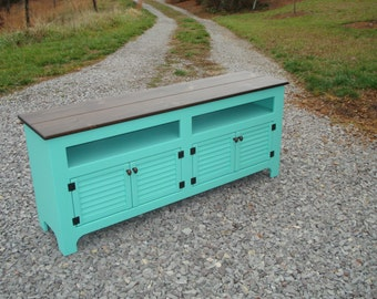 Custom Rustic Media Storage Console