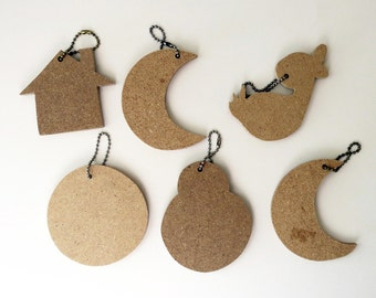Key Chains to Paint Wood Various Shapes