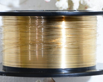 14k GF 28ga DS Round Wire Jewelry Making Supplies Wire Findings 14/20 Gold Filled Round Wire