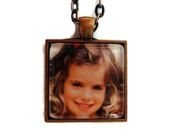 Child Photo Jewelry, Custom Photo Necklace, Personalized, Photo Pendant, Jewelry, Kids Picture Jewelry, Child Photo Jewelry Grandma Gift