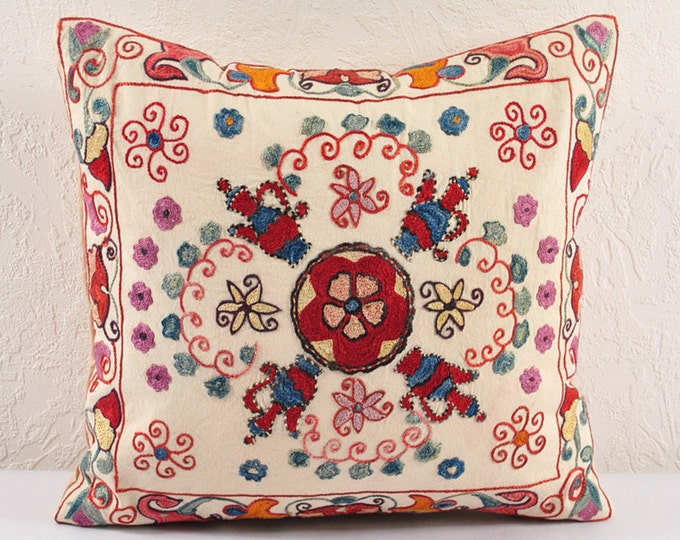 Handmade Suzani Pillow Cover ssp108-12