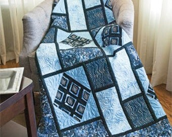 Piastrelle quilt. beautiful graphite design. Lap quilt Pattern only 2.99