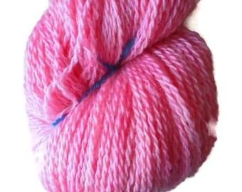 Bluefaced Leicester Yarn - Warm Pink Yarn - BFL Wool Yarn - Wool Yarn - BFL Yarn - Hand Dyed BFL Yarn - Hand Dyed Valentine Yarn - Valentine