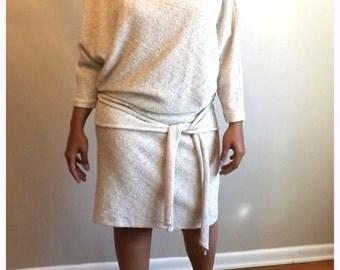Vintage Dress/Light stretch dress/with Hip Sash/Cassidy Size 8