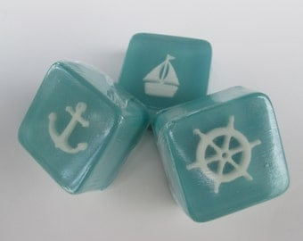 Nautical Boat Soap Favors with ships wheel, anchor, sailboat