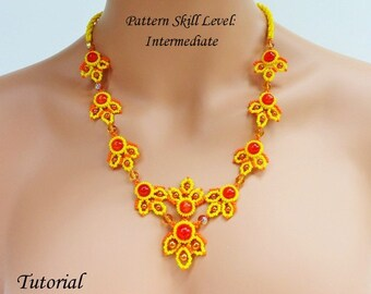 BUZZY LITTLE BEES beaded necklace beading tutorials and pattern seed bead beadwork jewelry beadweaving tutorial beading pattern instructions