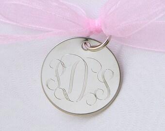 Custom Monogram, Personalized Tag, Wedding Tag, Monogram Tag, Party Favor, Metal Tag, Personalized Gift Tag