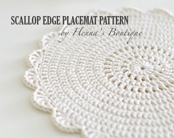 Crocheting Placemats : Crochet Placemat Pattern Sunflower Placemat by hennasboutique