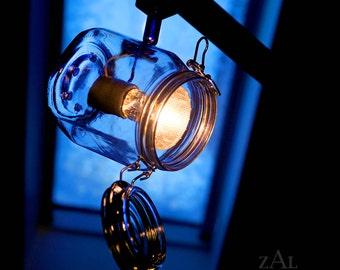 TRACK LIGHT, Hinged lid glass jar .