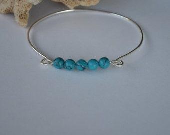 Seashell Jewelry … Beaded Bangle Bracelet (0844)