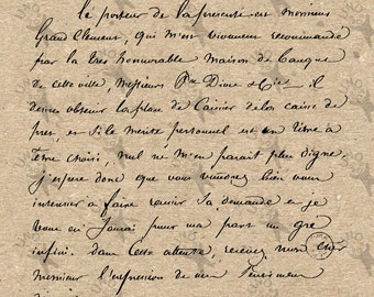 French Old Letter