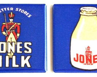 Jones Milk Fridge Magnet Set