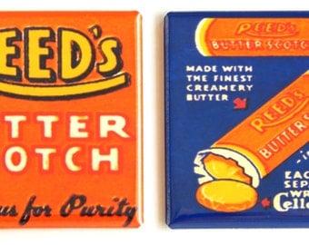 Butterscotch Candy Fridge Magnet Set