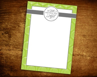 Personalized Notepad - Monogram Notepad - Personalized Note Pad - Be Still - Scripture - Religious