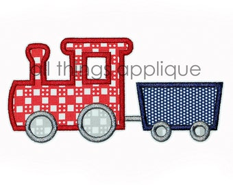 Train 1 Applique Design - 4 Sizes - INSTANT DOWNLOAD