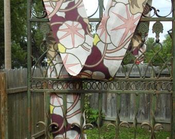 Vintage floral Deco patterned silk scarf