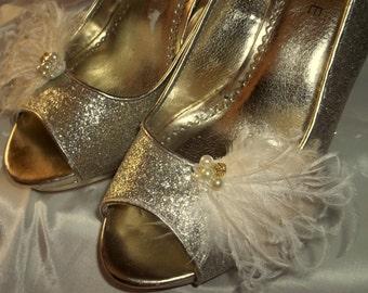 Shoe Clip, Wedding Shoe Clips, Bridal Shoe CLips, Feather Shoe Clips, Prom Shoe Clips, Clips for Bridal Shoes, Wedding SHoes, Accessories