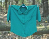80s Woman Blouse - Vintage - Green