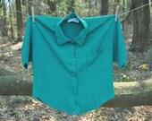 80s Woman Blouse - Vintage - Green
