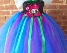 Unique Frozen Anna Tutu Dress Costume Birthday Full Includes Hair Piece Bow Anna Matching