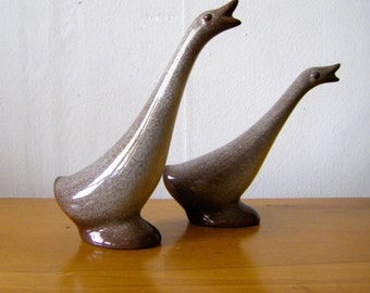 Set of Howard Pierce Pottery Geese