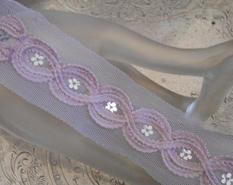 Lavender Silver Sequined Trim