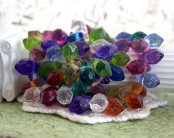 Glass Beads, Teardrop Beads, Pressed Glass Beads, Rustic Beads, India Glass Beads GB-027