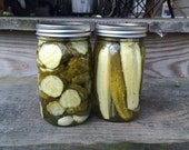 Garlic Dill Pickles Spears or Chips Locally Made in Upstate NY
