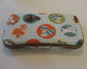 Baby Wipes Case, Travel Wipes Case, with Woodland Forest Animal Print