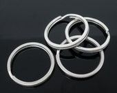 100 Split Rings Silver Antique 25mm - WHOLESALE - Key Rings  -  Ships IMMEDIATELY  from California - A412c