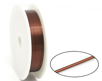 Beading Wire Brown - 0.5mm - Coffee - 262'  - 80M  - Ships IMMEDIATELY  from California - T40