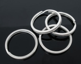 20 Split Rings Silver Antique 25mm - WHOLESALE - Key Rings  -  Ships IMMEDIATELY  from California - A412a