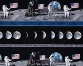 LAST YARD - Quilting Treasures - Flying High - Man on the Moon Stripe