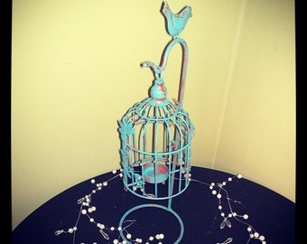 Upcycled Tea Light bird cage-Florence Green