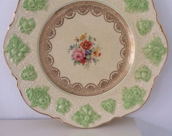 Ducal Ware Green Floral Patterned Plate