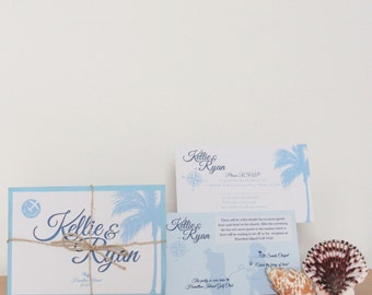 Postcard Tropical Wedding Invitation