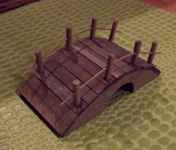 Miniature Wooden Garden or Fairy Foot Bridge Small Terrarium Diorama Supplies