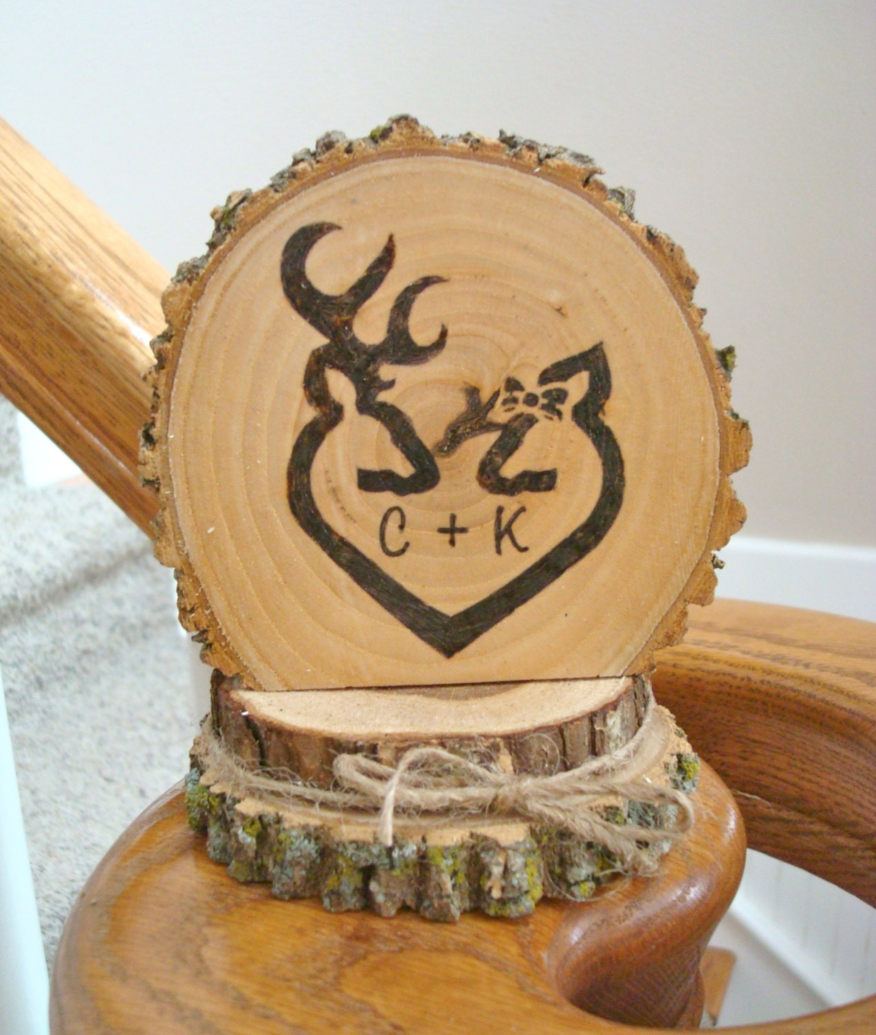 rustic wood wedding cake toppers wedding cake topper rustic wood personalized deer 19600