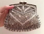 Art Deco beaded bridal clutch