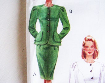 Pattern Butterick 4619  PEPLUM Top Skirt Easy & Beg. Friendly Miss  Sz.12 14 16 NEW  FACTORY Folds  1990