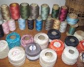 Multi Colored Collection of 37 Vintage Spools Thread