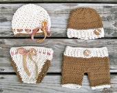 crochet twin set boy girl FREE  Domestic Shipping