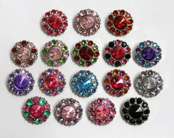 NEW - Large Anna buttons 25mm - set of 6 - you choose colors